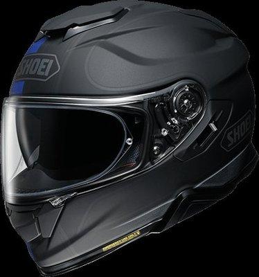 《鼎鴻》SHOEI全罩式彩繪安全帽GT-Air II REDUX TC-2 消光黑/藍 (內建式墨片)
