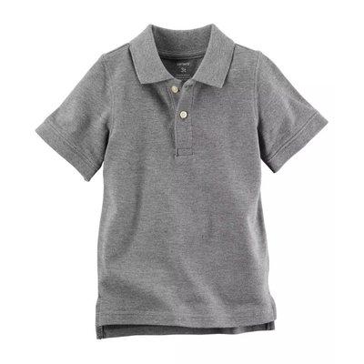【Carter's】CS男童短POLO衫 灰 F03191003-03