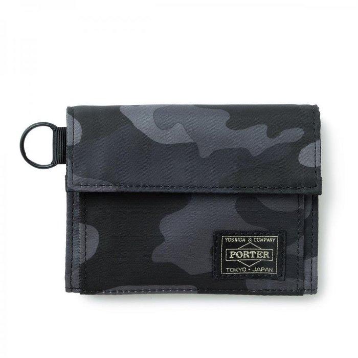 『小胖吉田包』現貨 日本 HEAD PORTER JUNGLE 黑色迷彩 短夾(橫式) HP-3545◎免運費!