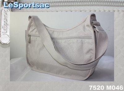 【LeSportsac】100% 全新正品7520 M046/ DRIFTWOOD 熱門款 實用 側肩包 斜背包