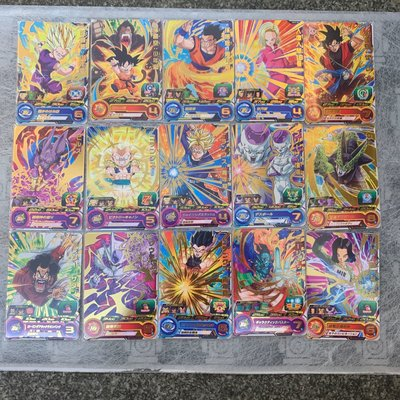七龍珠英雄 第二彈 二星 稀有卡片 全套 共計15張 如圖所示