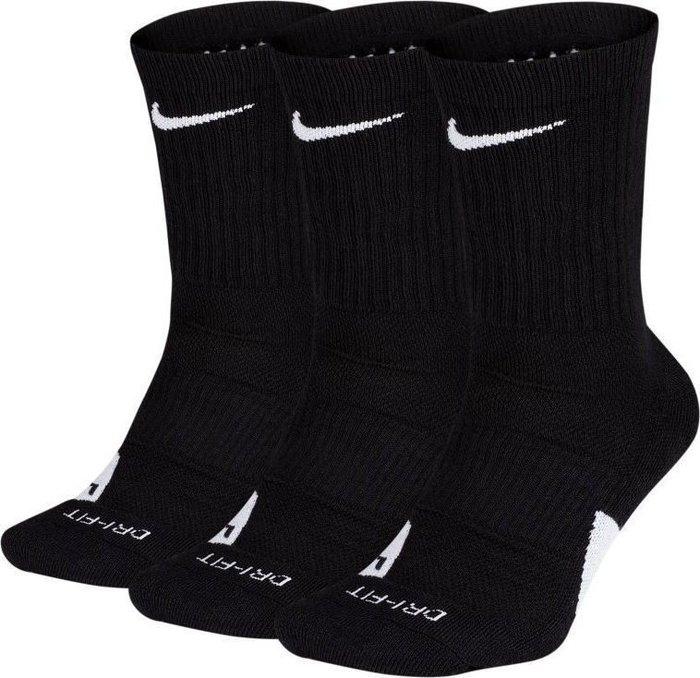 GOSPEL【Nike elite everyday socks】 籃球菁英襪 白 三入組 SX7627-010