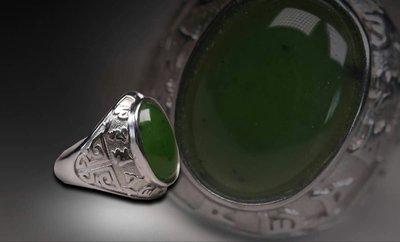 和田碧玉銀戒指(男戒)