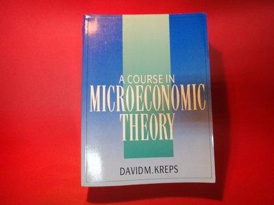 【愛悅二手書坊 15-13】A Course in Microeconomic Theory