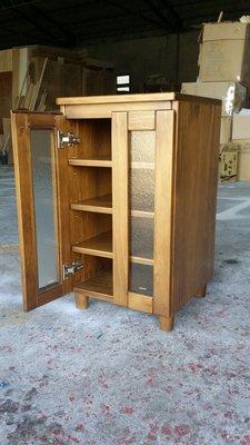美生活館 鄉村傢俱訂製 紐西蘭松木原木 古銅色 展示櫃 餐櫃 收納櫃 玻璃櫃 (也可三只合併購買) 也可修改尺寸與顏色