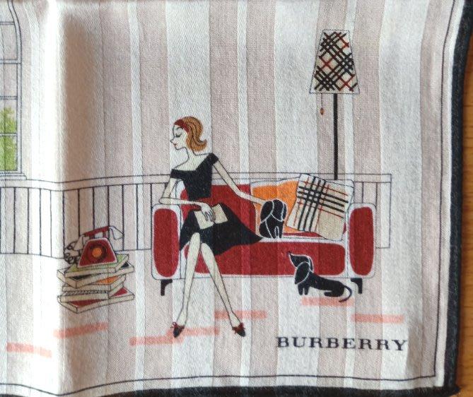 【姐只賣真貨】BURBERRY 仕女女用領巾手帕_女孩 (粉紅色)情人節首選禮物