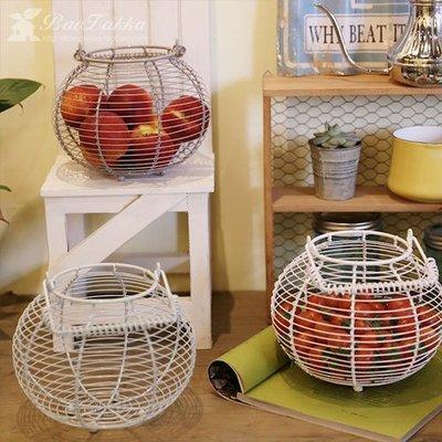 千禧禧居~BAOZAKKA北歐風簡約鐵藝收納籃水果籃拍攝道具百搭實用雞蛋籃花籃
