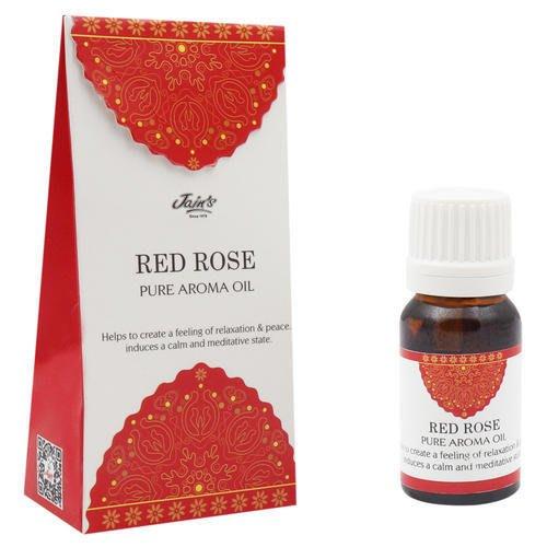[綺異館]印度香氛精油 紅玫瑰 10ml JAIN'S RED ROSE pure 另售印度皂 印度香