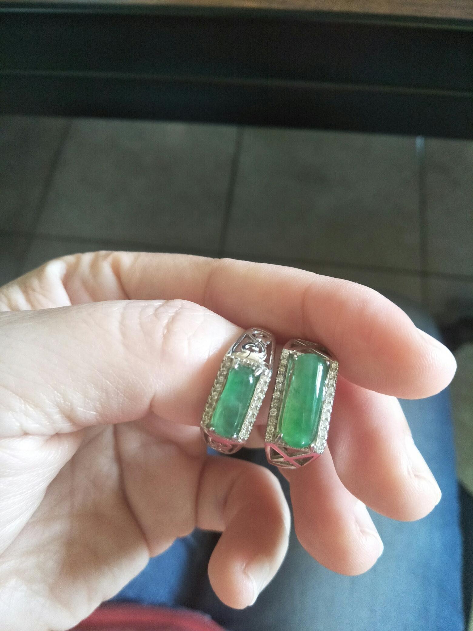 雙12優惠🎉天然緬甸翡翠A貨 冰陽綠馬鞍鑲925銀戒/只有2個