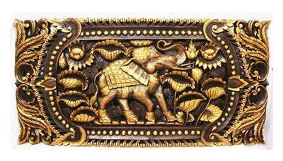 INPHIC-東南亞 家居飾品 泰國風格 木雕 掛飾 大象雕花板