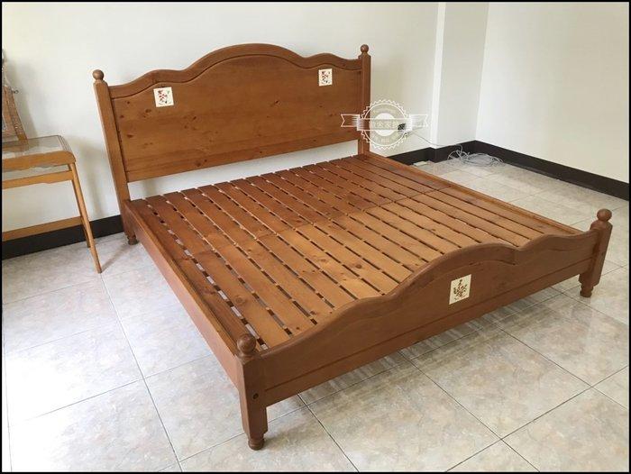 原木小熊/花卉瓷磚 雙人標準床架5*6.2床架 西班牙鄉村風另有磁磚加大床/單人床衣櫥斗櫃收納櫃房間組臥室【歐舍家飾】