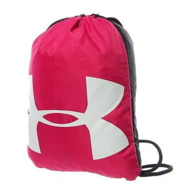 UA Curry束口袋UNDER ARMOUR黑紅1240539-655粉紅防水後背包側背肩背包籃球包拉繩健身包鞋袋提袋