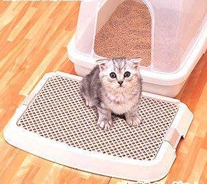 ☆米可多寵物精品☆日本IRIS貓用落砂盤砂踏墊貓咪專用刮砂板NO-550超低價↘