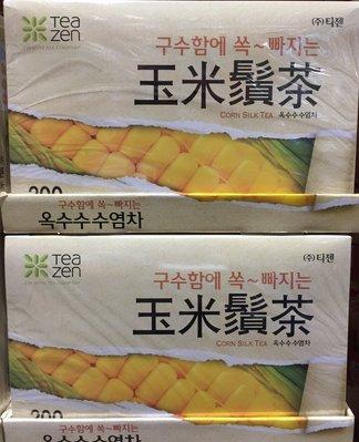 【佩佩的店】COSTCO 好市多 Teazen 玉米鬚茶 1.5公克 X 200包 /盒 新莊可面交