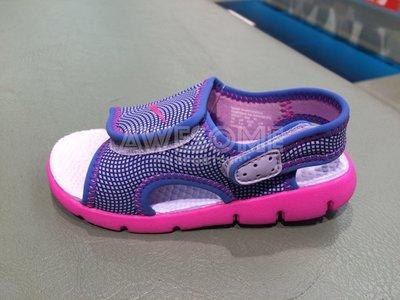 [歐鉉]NIKE SUNRAY ADJUST 4 TD 紫色 涼鞋 小童鞋 男女鞋 386521-504