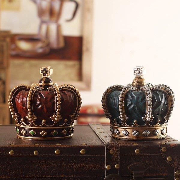 北歐複古創意皇冠擺件家居裝飾品客廳咖啡館酒吧辦公室櫥窗工藝品(兩色可選)