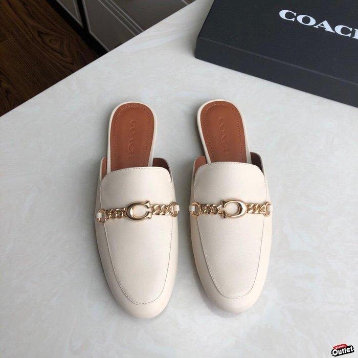 【全球購.COM】COACH 寇馳 2020新款 懶人鞋 五金屬LOGO 百搭休閒鞋  時尚精品 美國連線代購