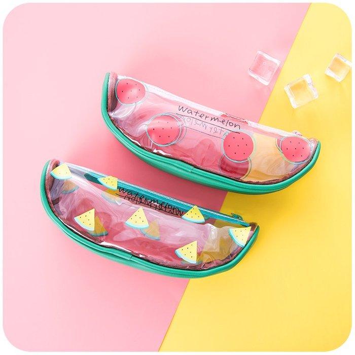 爆款--韓國新簡約小清新可愛女大學生文具盒透明創意高中初中生零食筆袋#少女用品#創意#可愛#簡約