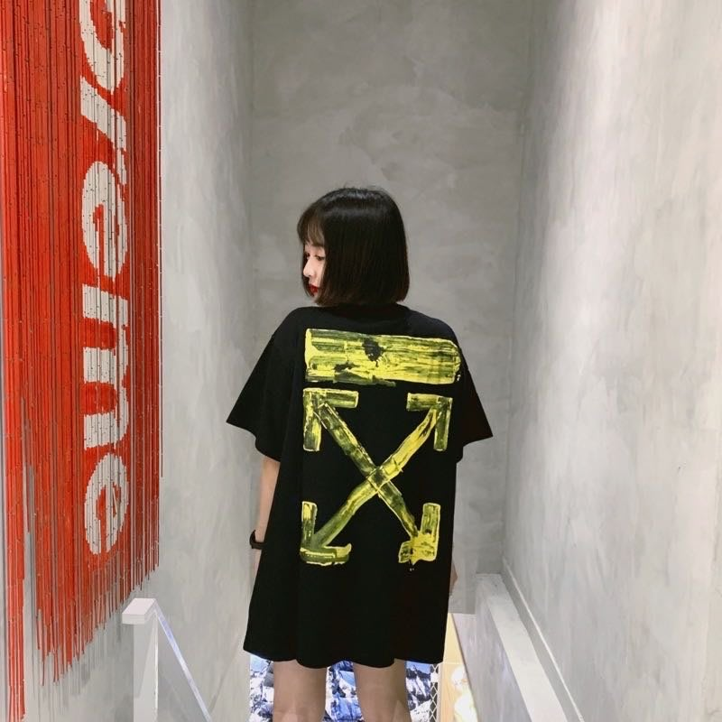 轉賣 全新【Fusion Store】Off White 黃油漆 短Tee 現貨 正品 xxs