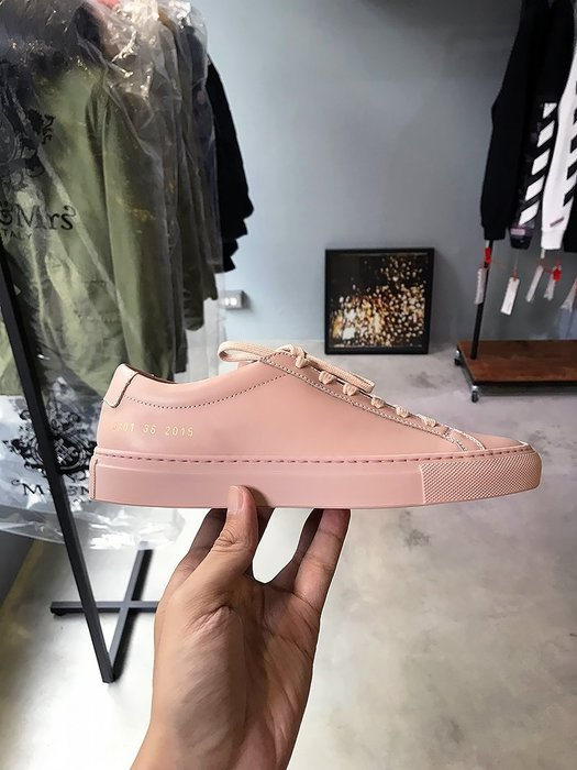 現貨【COMMON PROJECTS】18春夏 ORIGINAL ACHILLES皮革休閒鞋 粉紅女款 *45%OFF*