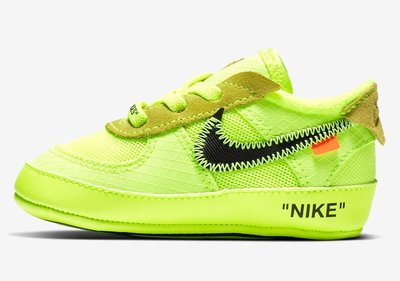 沃皮斯§Off-White X Nike Air Force 1 CB 'Volt' 螢光 學步鞋 BV0854-700