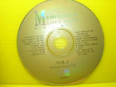 【【博流挖寶館】】 光碟CD MEMORABLE LOVE SONG VOL.2