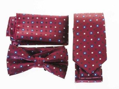 【幸福二次方】 領結+領帶+方巾三件組...