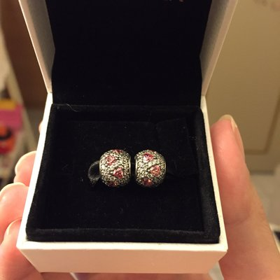 ***Sophie*** Pandora Fancy pink heart pave' ball
