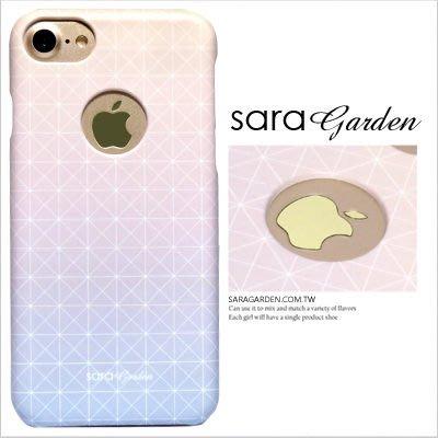 客製化 手機殼 iPhone 8 7 Plus X 硬殼 簍空 漸層石英粉幾何【G0101665】