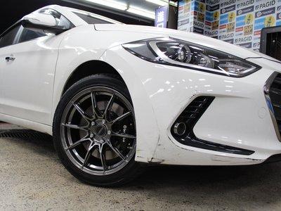 ~三重長鑫車業~正 美國品牌 VARRO VD21 旋壓輕量化 高質感立體設計 17吋鋁圈 現代 ELANTRA 實裝圖