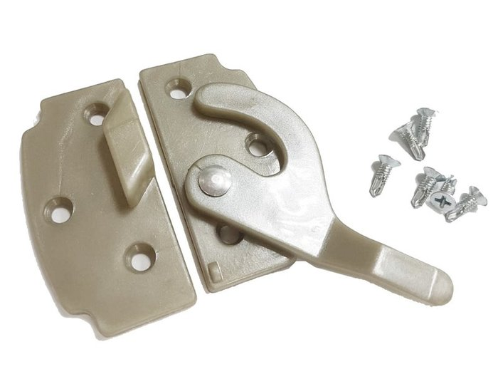 HS007 紗門勾 紗窗勾 紗門鎖 紗窗鎖 鋁門窗 門鉤 窗鉤 鋅鉤 窗門鎖 氣密窗 台灣製造