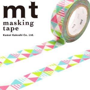 《Greens selection》日本MT紙膠帶/ mt Masking Tape /  經典款 / 彩色幾合圖騰