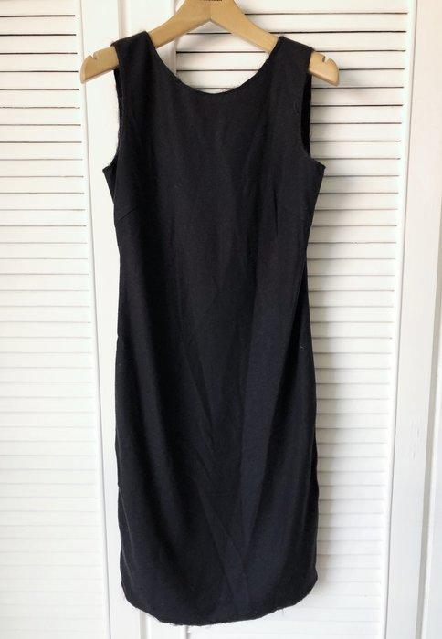 Prada 高端初剪羊毛經典收腰黑色小洋裝