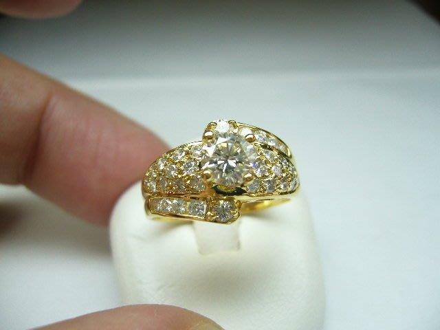 [吉宏精品交流中心]53分 南非天然鑽石 黃K金 造型 戒指