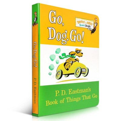 低幼適齡版 英文原版 Go, Dog Go 紙板書 Dr. Seuss 蘇斯博士 PD Eastman  英文啟蒙入門原