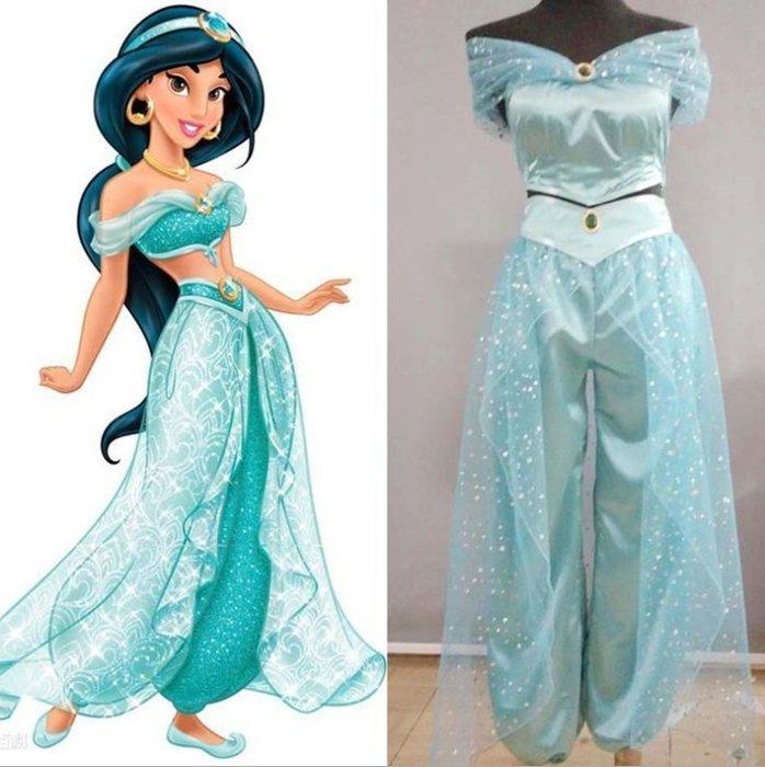 迪士尼阿拉丁神燈cos公主茉莉公主成人兒童cosplay服裝cos女裝