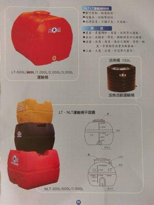 (YOYA)強化運輸桶 NLT-500 工業級 500L 0.5頓 塑膠強化水塔平底水塔臥式水塔☆中彰免運☆彰化水塔