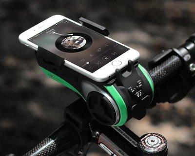 【手機研究所】ROCKBROS 七合一 防水自行車車燈 手機架 藍芽音響 高亮L2燈珠 USB行動電源  洛克金哨AUX