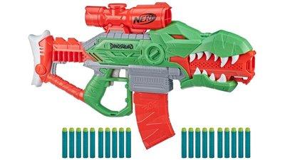 【W先生】孩之寶 NERF 恐龍 DINOSQUAD 瘋狂暴龍射擊器 Rex-Rampage 電動 軟彈槍 HF0808