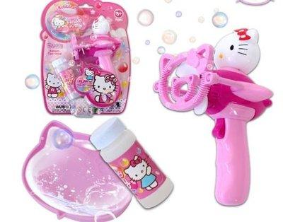 【小糖雜貨舖】凱蒂貓 hello kitty KT 風扇 泡泡槍