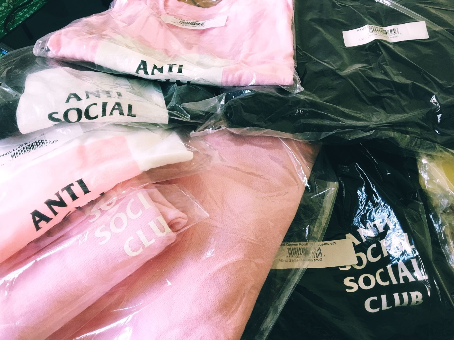 美國官網購Anti social social club assc 2017 ss logo t 帽t 教練外套 cap(請看內文)