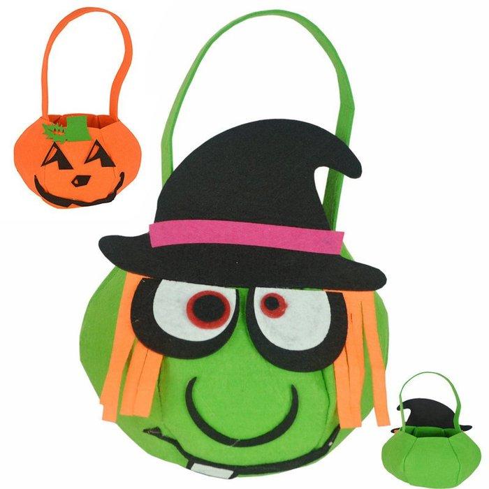 【Kathie Shop】萬聖節鬼節舞會表演道具南瓜袋巫婆袋禮品袋糖果袋惡魔袋