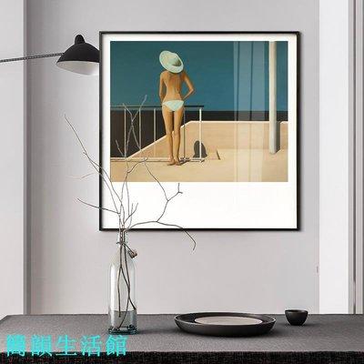 現代簡約裝飾畫客廳沙發背景墻畫晶瓷畫酒店樣板房掛畫玄關壁畫【簡韻生活館】