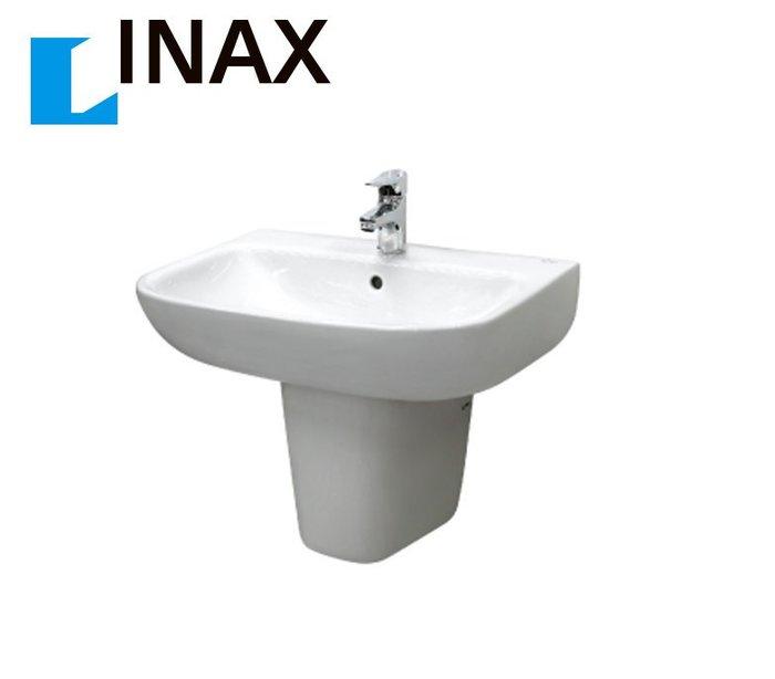 【 達人水電廣場】日本 INAX 伊奈 GL-298VFC-TW / LFV1202S-1 面盆+短腳柱+龍頭