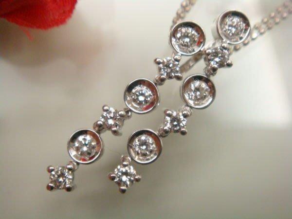 出清換現 美品DTC火光閃亮0.50克拉造型鑽石雙墜雙鍊一體18K金鑽石套鍊