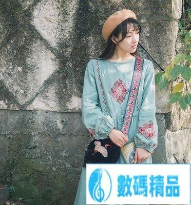 復古文藝民族風寬肩帶女包背帶波西米刺繡單肩斜背包帶~尾牙鉅惠【數碼精品】