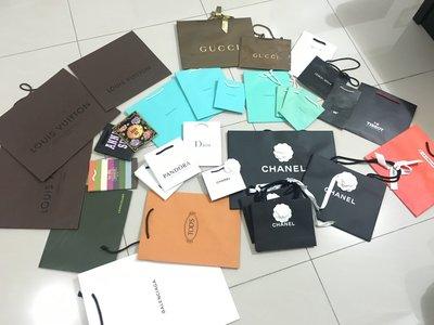 3.GUCCI PANDORA潘朵拉 LONGCHAMP GODIVA 紙袋/紙盒/禮物袋/包裝盒/手提袋
