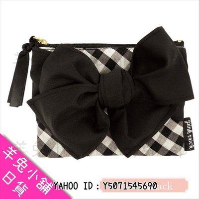 【日本pink trick蝴蝶結格紋衛生紙包】A400486 羊兔小舖 日貨 日本代購 生理用品收納 日系氣質可愛 禮物