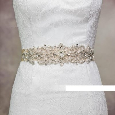 天使佳人婚紗禮服~~~~~新婚紗腰帶腰封禮服裙子百搭 水鑽顯瘦腰帶