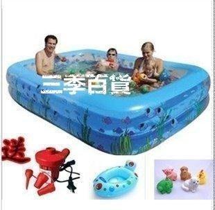 三季大型盈泰家庭兒童充氣游泳池超大號戲水池嬰幼兒池成人泳池❖633